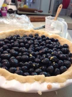 Zesting on top of the blueberries. Zestful.