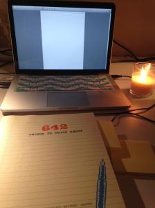 That writing thing.