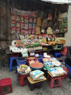 Typical market stall.