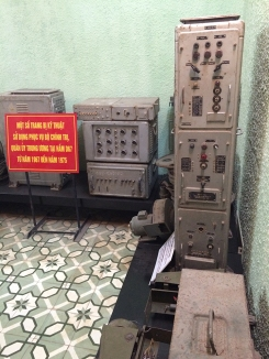 Underground bunker beneath the Hanoi Citadel with transmission equipment