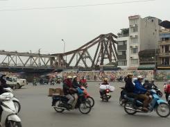 Hanoi's Long Bien Bridge built in 1903