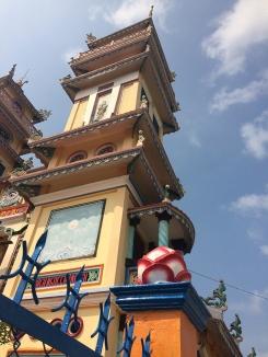 Temple near Mekong Delta, south of Saigon