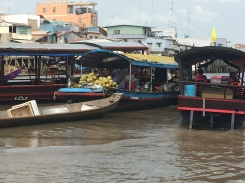 Floating Market in the Mekong River